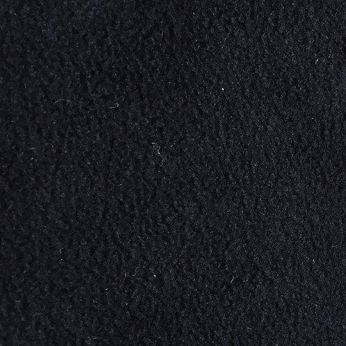 Anti-Pill Velour Fleece - Black (half metre)