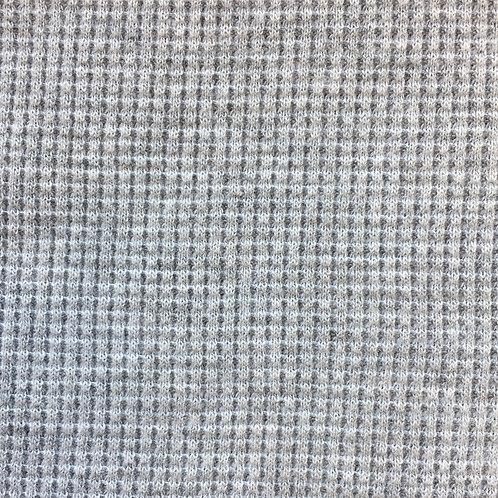 Organic Cotton Waffle Knit - Grey Mix (half metre)
