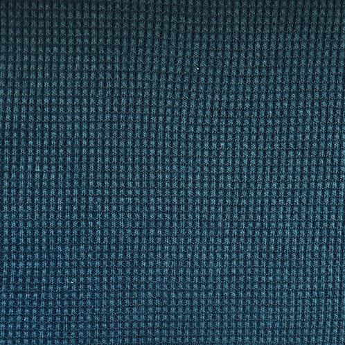 Organic Cotton Waffle Knit - Ultramarine  (half metre)