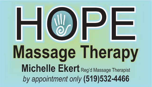 HOPE Massage Therapy Business Card