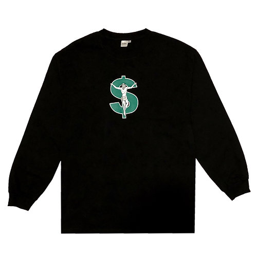 JE$U$ LONG SLEEVE (BLACK)