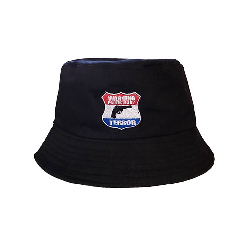 PROTECTED BY TERROR BUCKET HAT
