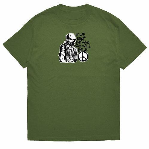 FUCK WAR TEE (MILITARY GREEN)