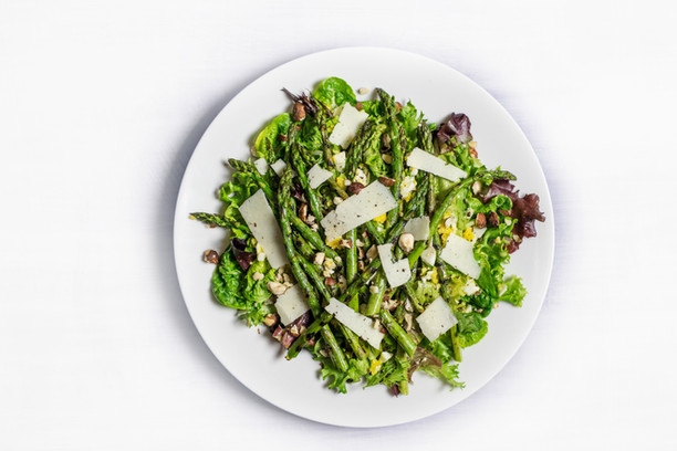Snap Pea & Asparagus with Feta