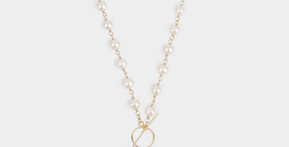 THE KNOTTING KESHI PEARL NECKLACE