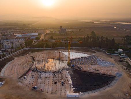 Santuário de 'Abdu'l'-Bahá: Fundações concluídas