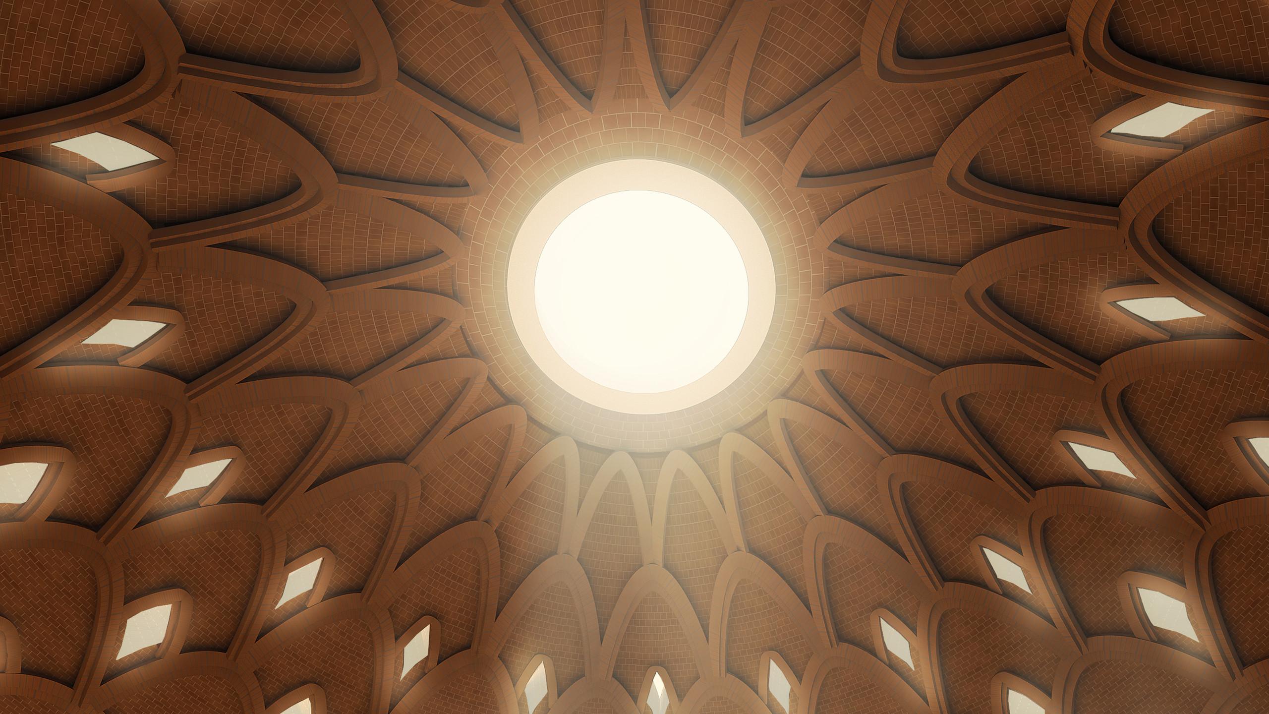 """""""Reconhecemos que a Casa de Adoração Bahá'í em Bihar Sharif precisa oferecer um ambiente para a experiência do divino e ao mesmo tempo estar humildemente enraizada em seus arredores."""", afirmou a empresa que desenhou o novo templo."""