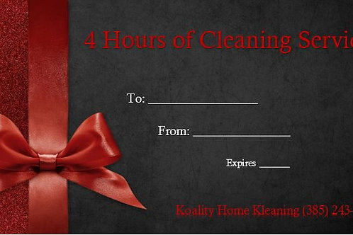4 Hour Gift Certificate