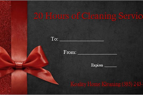 20 Hour Gift Certificate