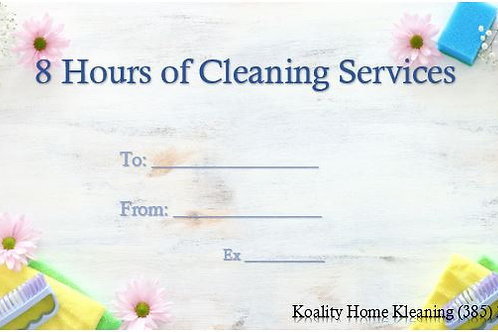 8 Hour Gift Certificate