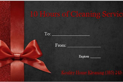 10 Hour Gift Certificate