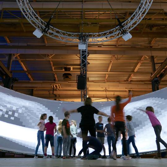 Children at STRP Biennale 2017