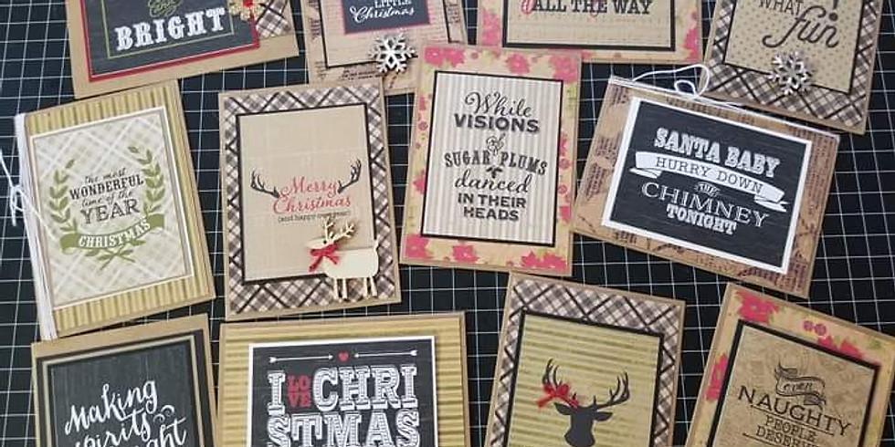 Holiday Card Make & Take FUNraiser
