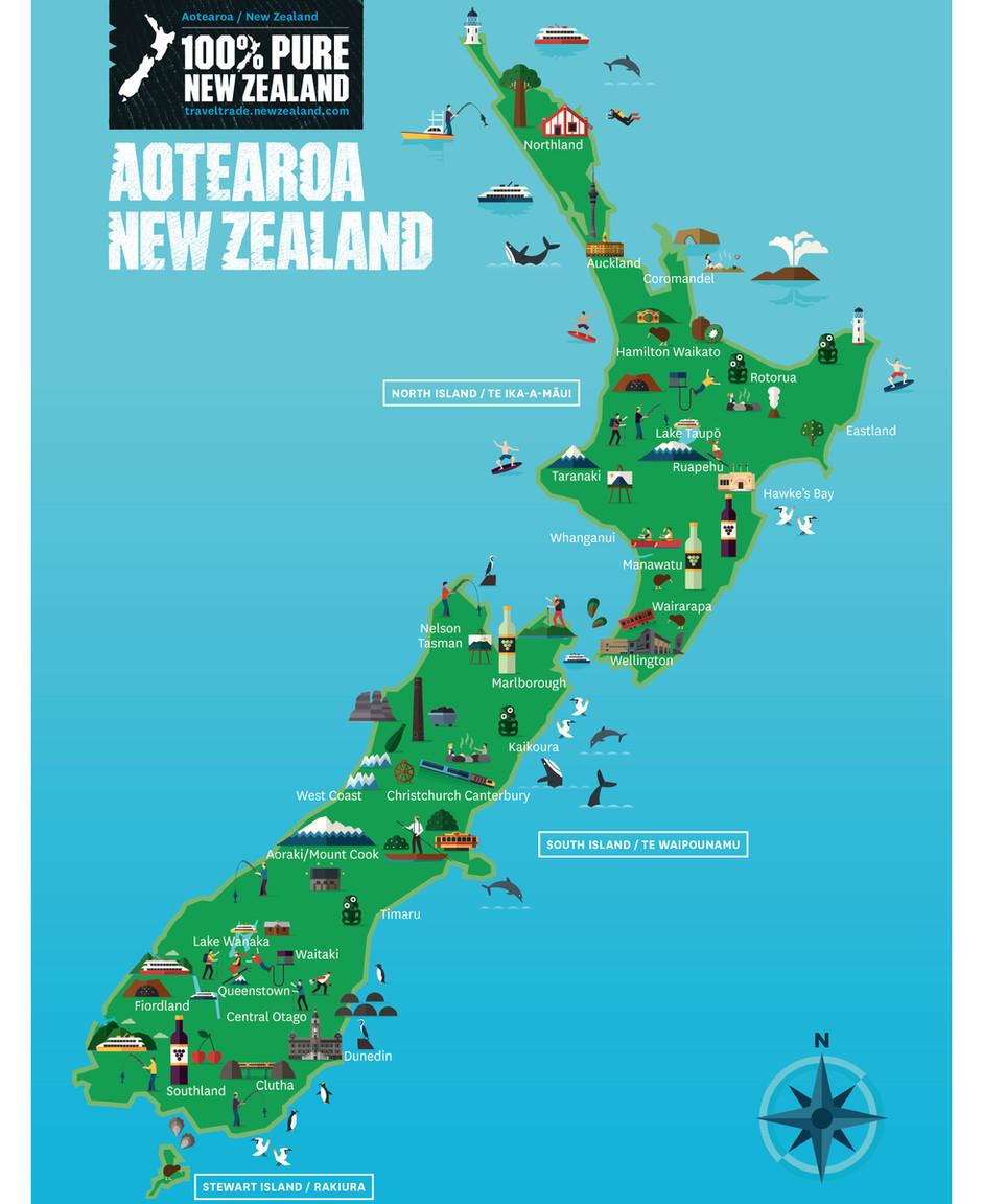 NZ MAP OF ACTIVITIES
