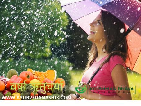 Diet and Regimens of Monsoon Season (वर्षा ऋतुचर्या) in Marathi