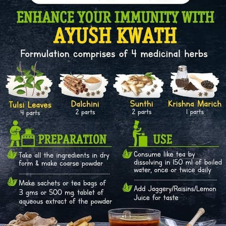 Boost your Immunity with AYUSH KADHA recommended by Ministry of AYUSH INDIA.