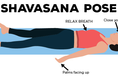 Shavasana : one of the best relaxation technique.