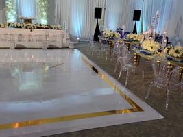 Dancefloor Wrap with Gold Foil design