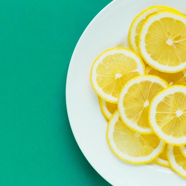 For love of lemon cut on plate
