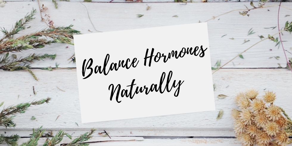 Balance Hormones Naturally with Medical Herbalist Lucie Bradley