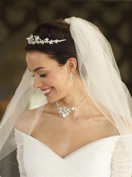 Genuine Crystal Tiara, Necklace & Earring Set