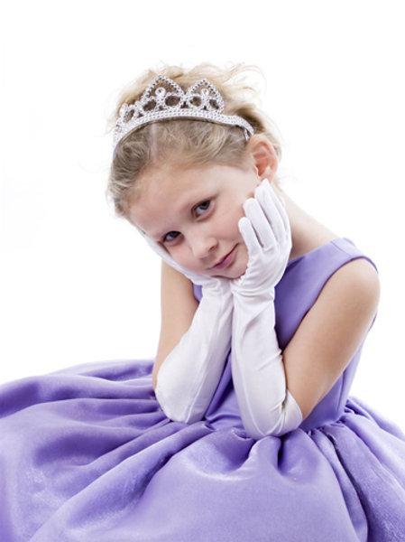 Child's Satin Elbow Gloves