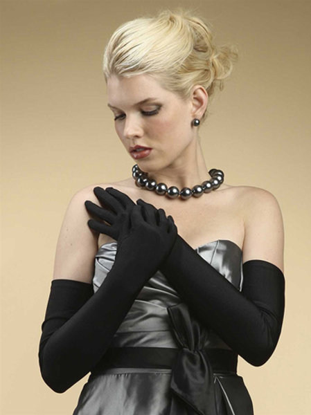 Adult Matte Satin Opera Gloves