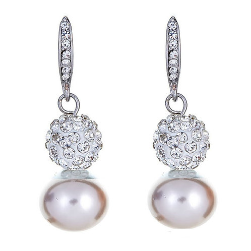Luna Crystal Ball Earrings