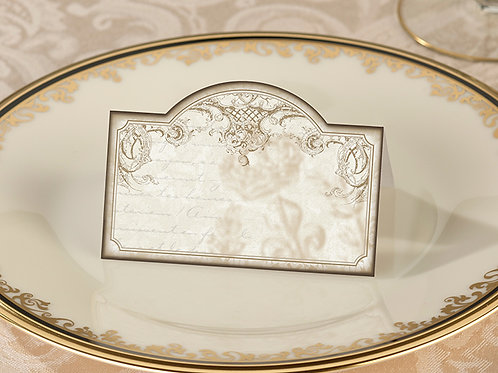 Vintage Gold Place Card Holders (24)