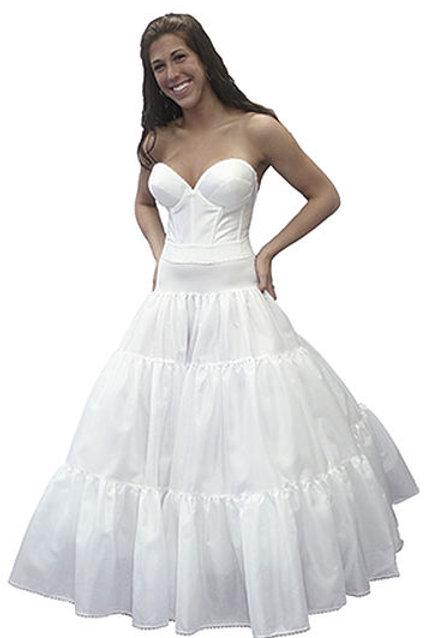 Spandex Waist Petticoat 3 Tier