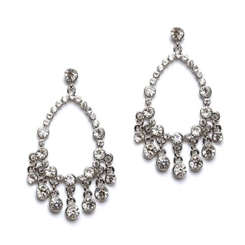 Open Crystal Chandelier Earrings