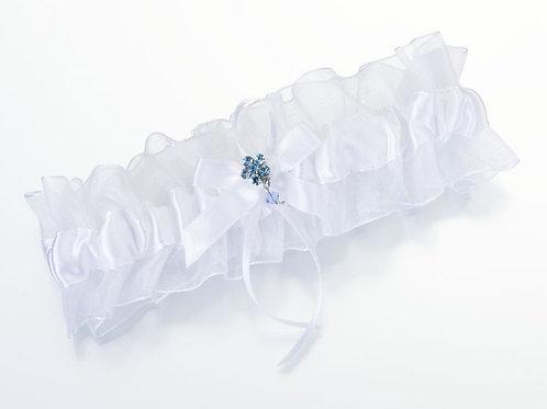White Garter with Blue Flower