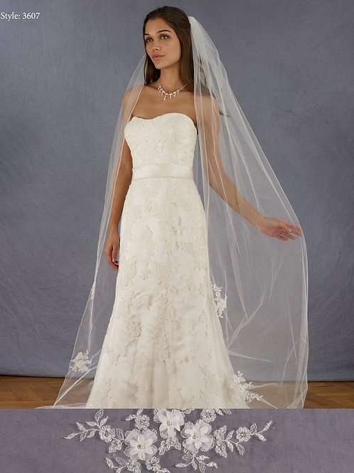 Marionat Cathedral 3D Lace Veil 3607