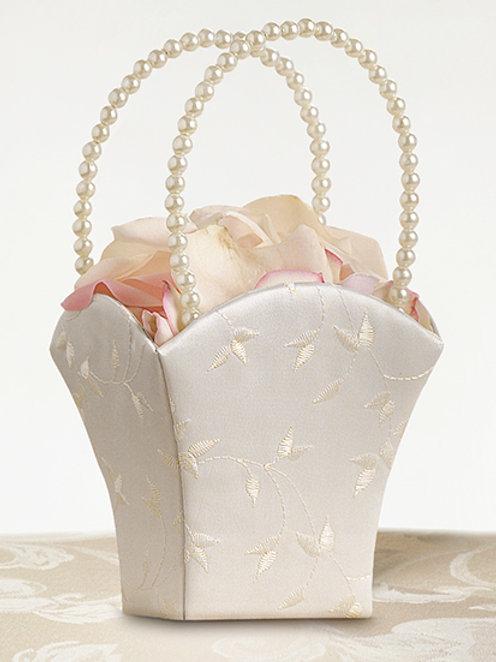 Embroidered Flower Basket