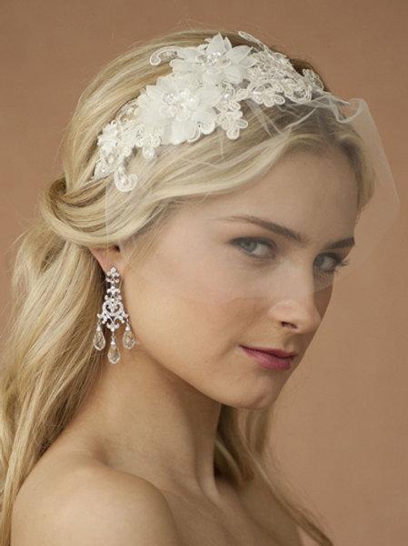 European Lace Wedding Headband Veil