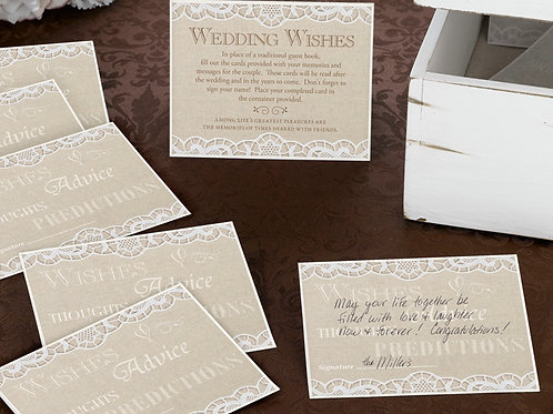Country Lace Guest Cards (48)