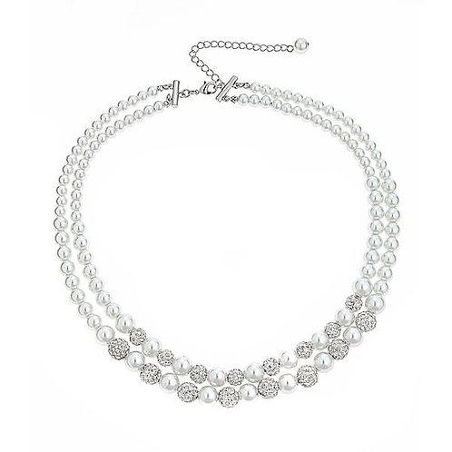 Luna Crystal Ball 2-Row Necklace