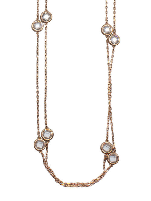 Josephine Solitaire Station Necklace