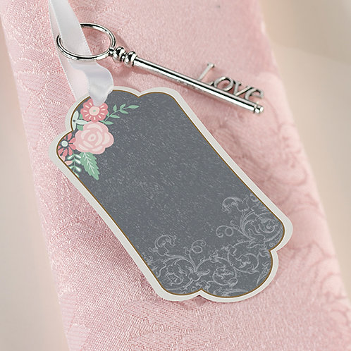 Chalk Style Flower Key Tags (24)