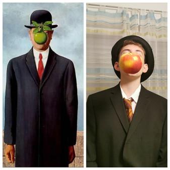 """René Magritte """"Der Sohn des Mannes"""" von Samuel F."""