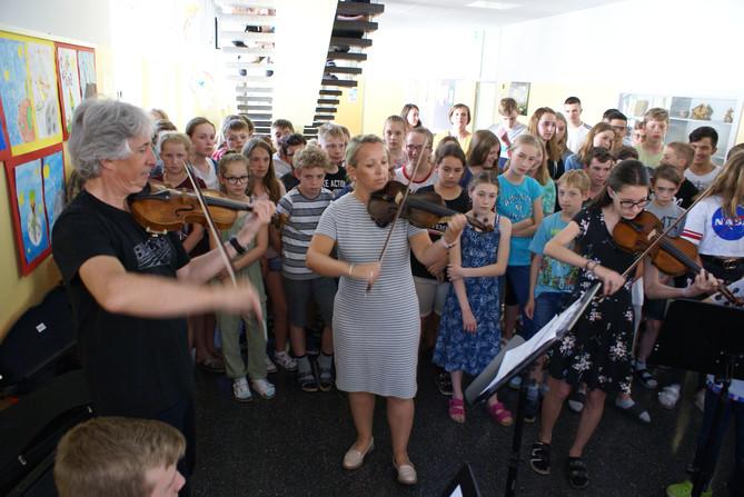 Flashmob mit australischem Geiger