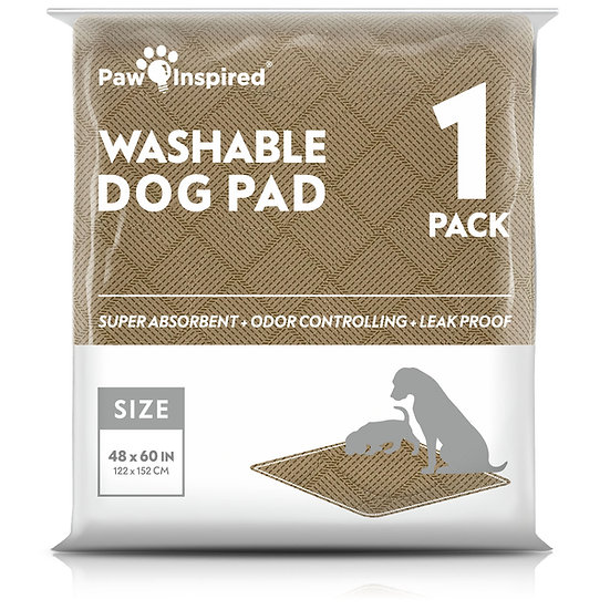 """Paw Inspired Washable Pee Pads for Dogs, 3XL (48"""" x 60""""), Puppy Training Pads"""