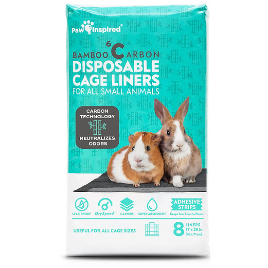 "8ct Paw Inspired Disposable Guinea Pig Cage Liners (17"" x 27"" (C&C 2 x 1))"
