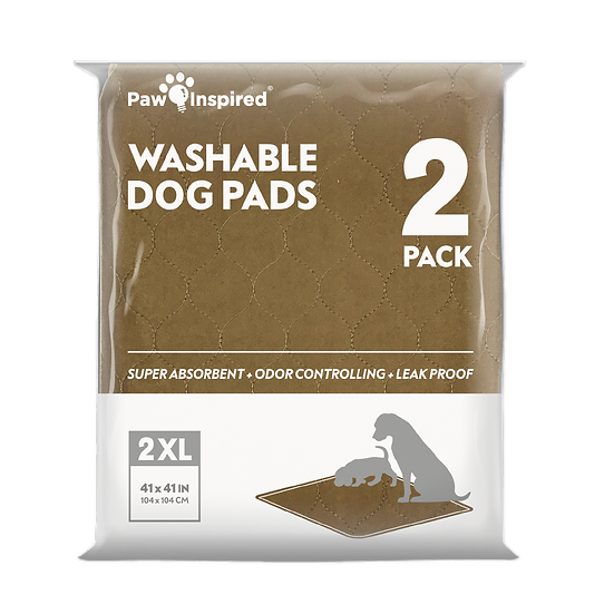 2ct Paw Inspired Washable Pee Pads for Dogs, XXL (41'' x 41'')