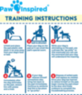 Paw Inspired Ultra Protection Dog & Puppy Pads training instruction