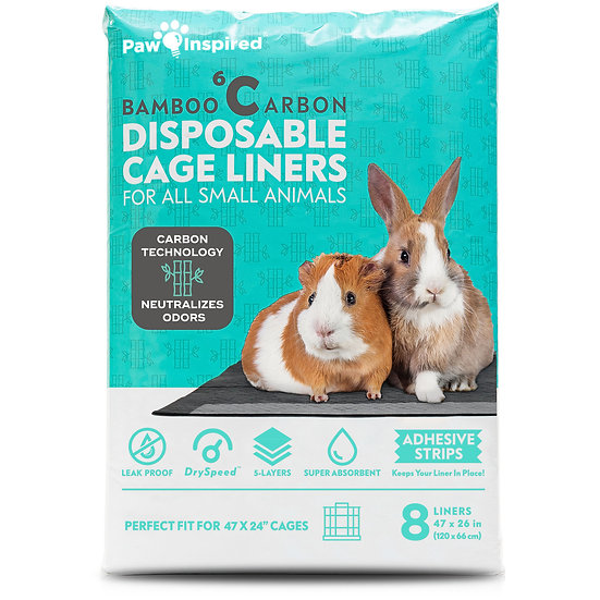"8ct Paw Inspired Disposable Guinea Pig Cage Liners (47"" x 26"" (Midwest))"