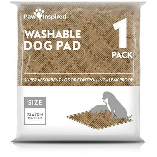 """Paw Inspired Washable Pee Pads for Dogs, 4XL (72"""" x 72""""), Puppy Training Pads"""