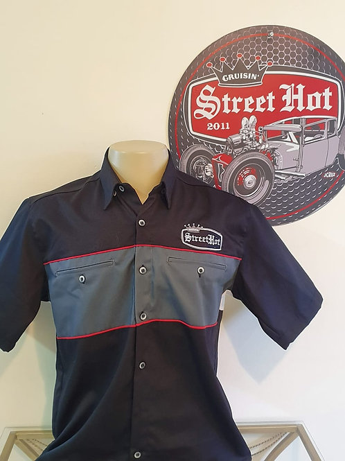 Camisa Street Hot Pinstripe c/ recorte