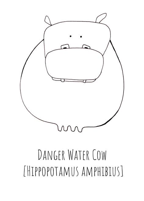 Danger Water Cow