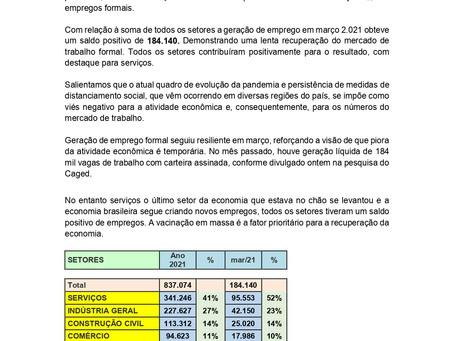 Nota Econômica: Serviços é responsável por 52% dos empregos gerados, por Carlos Eduardo Junior